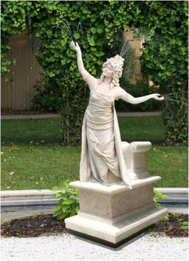 human fountain